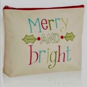 ZIPPER POUCH (retired) holiday MERRY & BRIGHT
